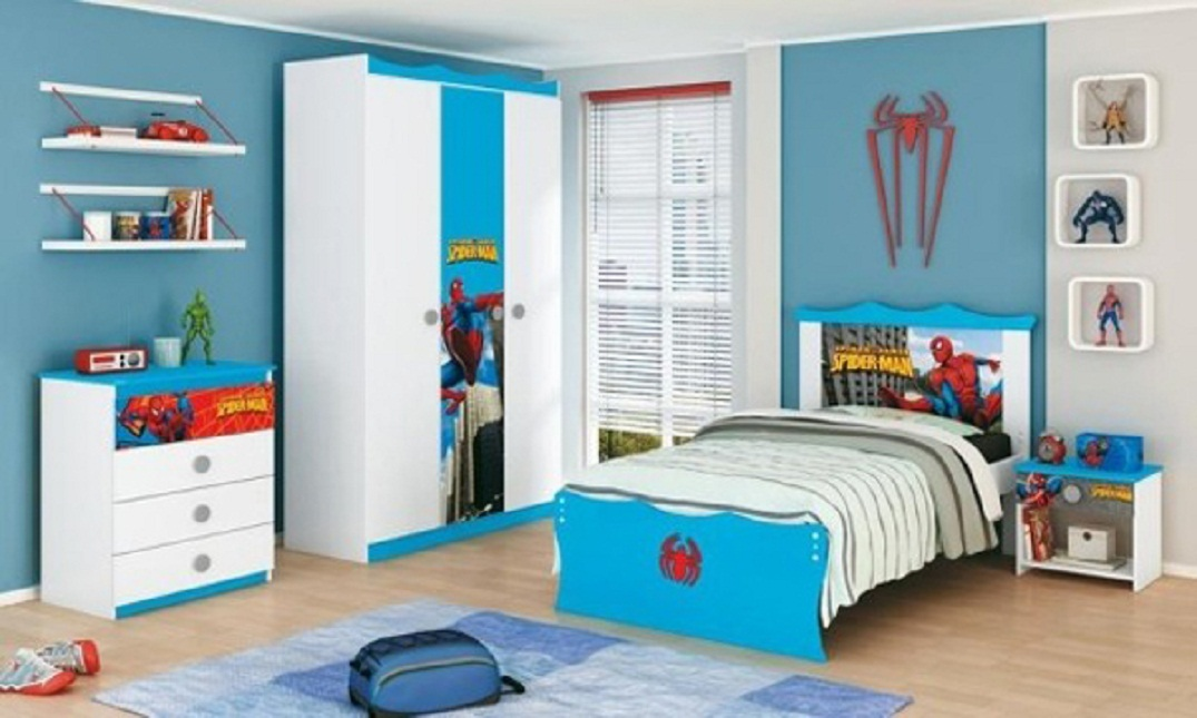 elegant spiderman kids bedroom decoration ideas