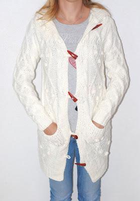 chaqueta punto blanco