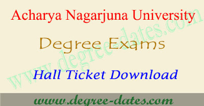 ANU Degree hall tickets download 2017 ug exam admit card