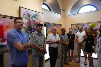 Wernisaż w galerii Wieża Sztuki, od lewej Arkadiusz Latos, Zdzisław Majrowski