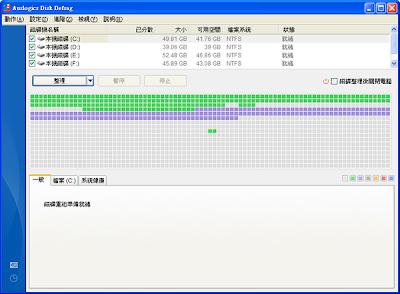 好用的免費磁碟重組工具,Auslogics Disk Defrag  V3.3.1.2 多國語言綠色安裝版!