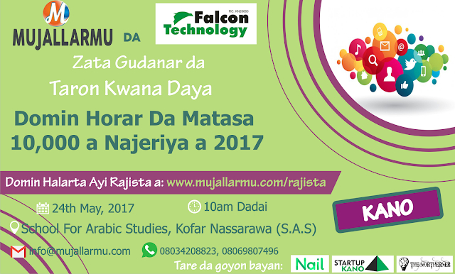 MUJALLARMU AND FALCON TECHNOLOGY TO TRAIN 10,000 NORTHERN NIGERIAN YOUTHS