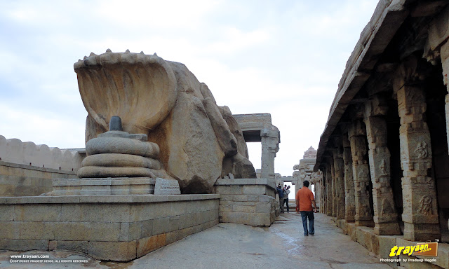 The monolithic Nagalinga sculpture in Lepakshi Veerabhadra Swamy Temple