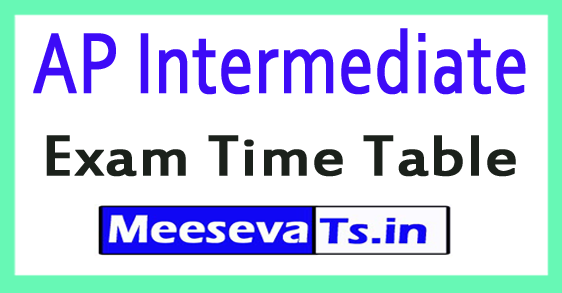 AP Inter I / IInd Year Annual Exam Time Table 2018