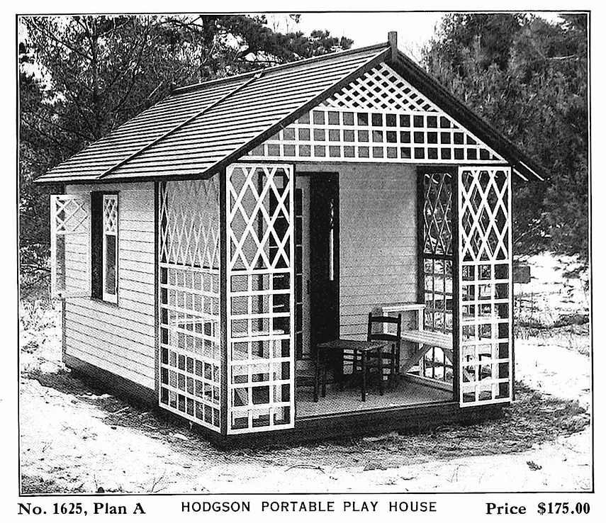 a 1916 children's play house photograph from a sales catalog