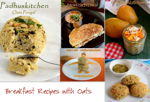 Breakfast recipes with Oats