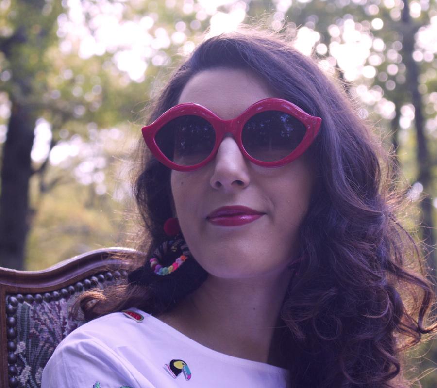 lips glasses - lunettes levres rouges