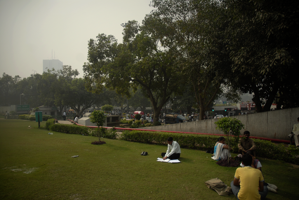 Photo of a park in New Delhi, India.