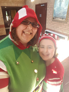 PippaD and Top Ender dressed up as Elves