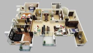 plan rumah banglo 4 bilik