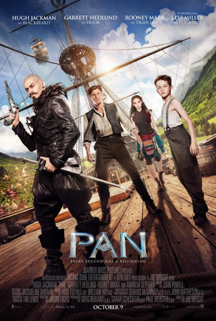 Pan, Movie Poster, Directed by Joe Wright, starring Hugh Jackman
