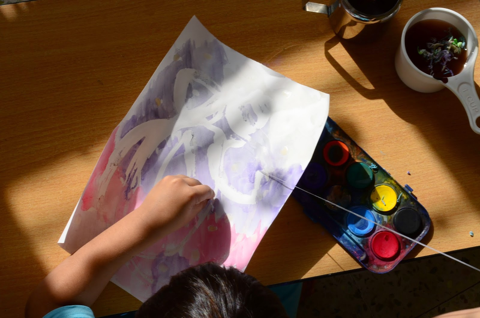 Preschooler Art With Watercolor Masking Fluid