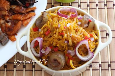 Abacha ncha with Ugba ukpaka (African Salad)