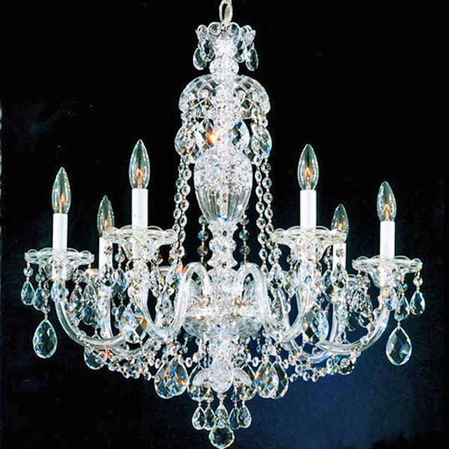 beautiful crystal chandelier lighting