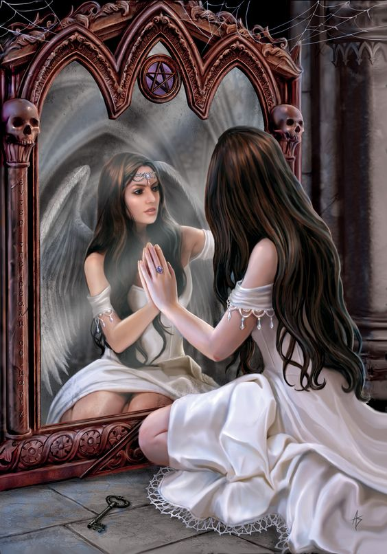 First Notice Day - Magickal Mirror angel by Anne Stokes
