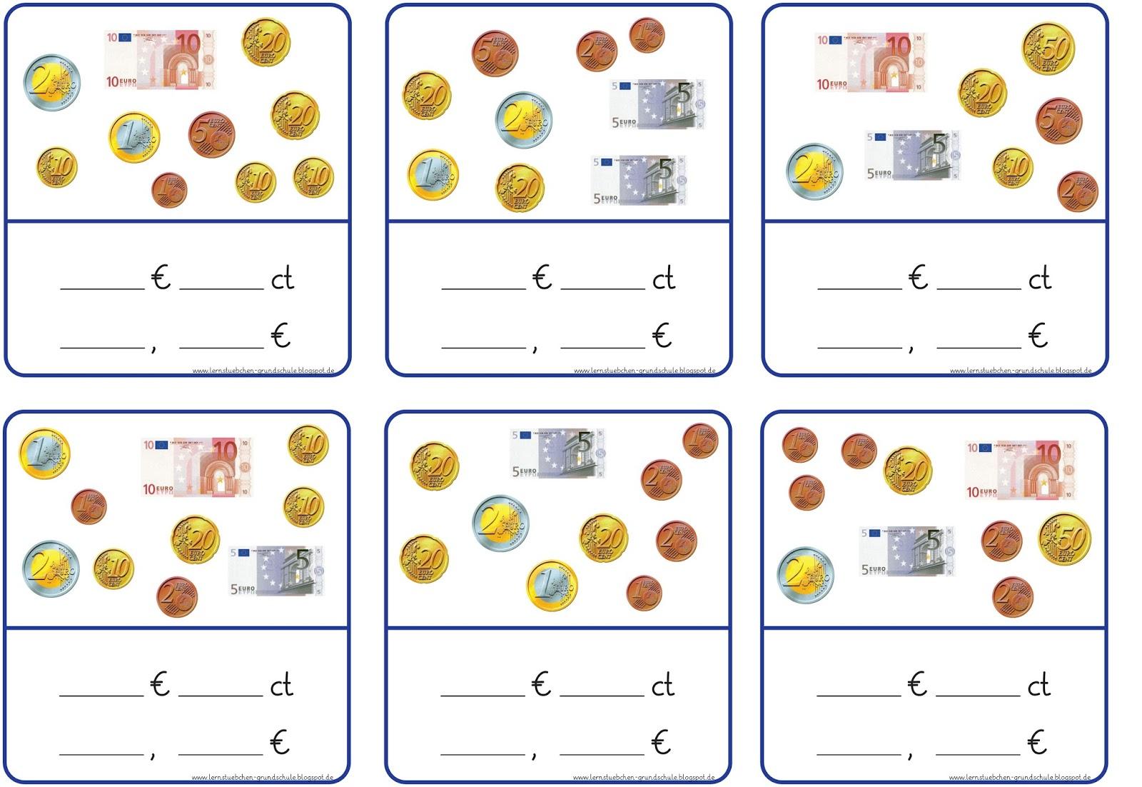 Lernstubchen Geldbetrage