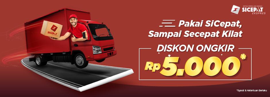 #Tokopedia - #Promo Vooucher Kilat Pakai SiCepat Gratis Ongkir 5K (s.d 28 Feb 2019)