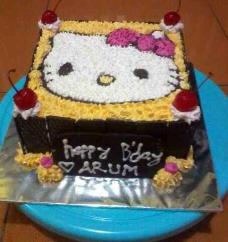 Tips Cara Membuat Kue Tart Gambar Hello Kitty