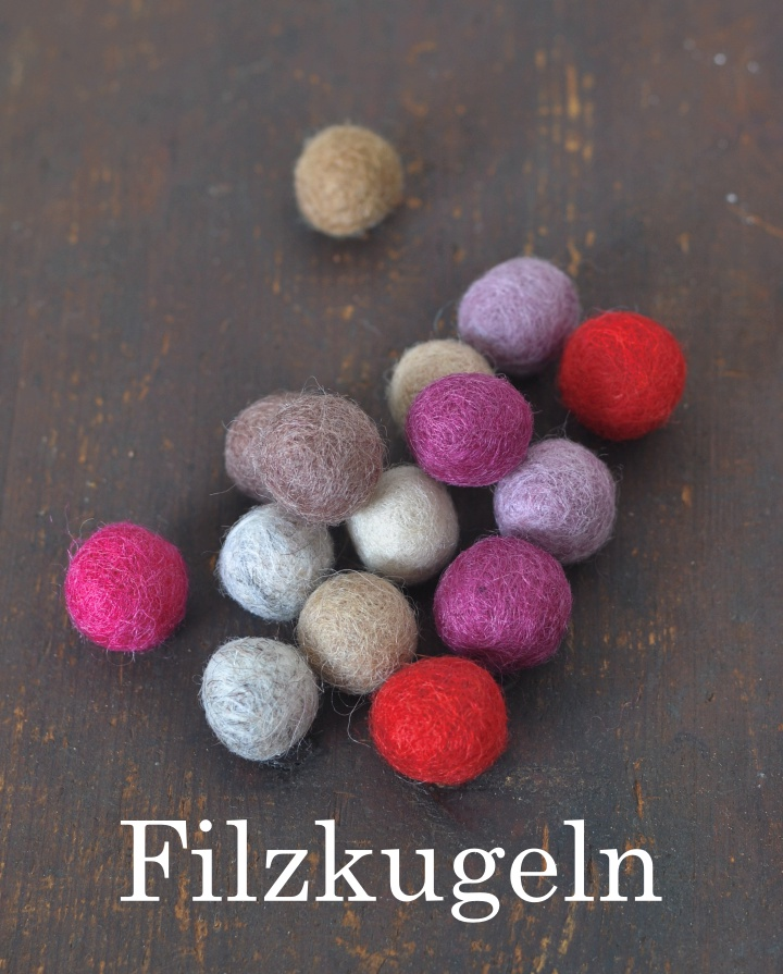 What you need for DIY Felt Acorns - 2) Felt Balls