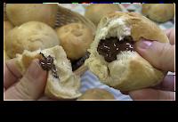 bollos preñaos de chocolate