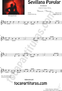 Sevillana Popular Partitura de Clarinete Sheet Music for Clarinet Music Score