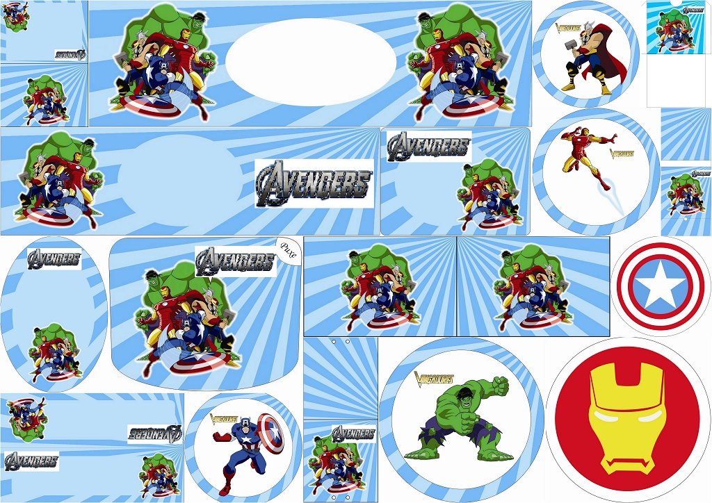Free Printable Candy Bar Labels of the Avengers - Oh My Fiesta! for