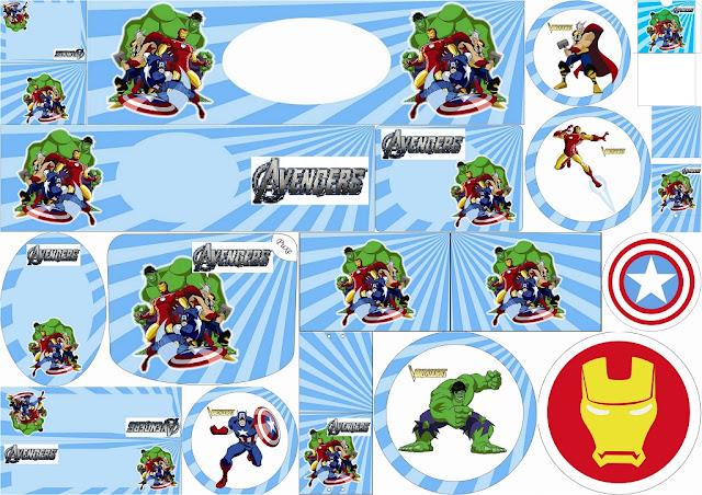 Etiquetas para Candy Bar para Fiestas de los Vengadores para Imprimir Gratis.