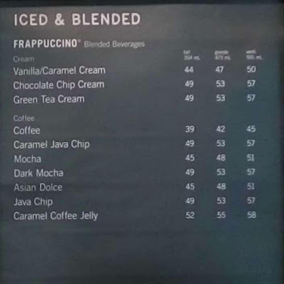 Harga Starbucks