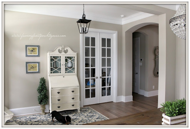 Farmhouse Foyer-New House-Personalizing-House to Home-Vintage-French Country- From My Front Porch To Yours