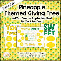 This Pineapple  Themed Giving Tree is perfect to get your supplies for Back-to-School Nite or Open House!