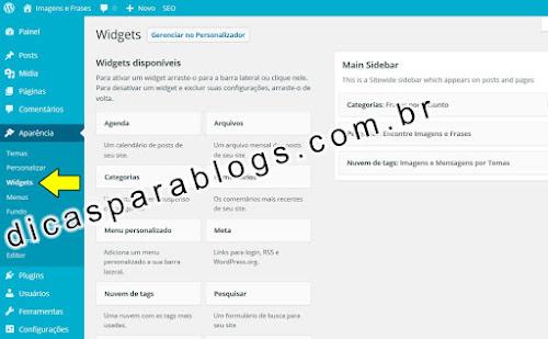 Adicionar Widgets no Wordpress