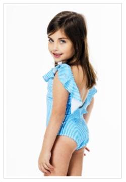 Mallas enteras para nenas verano 2018. Moda trajes de baño para nenas.