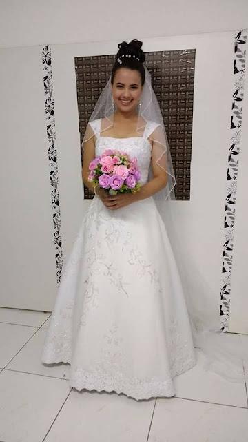 Vestido de noiva evase