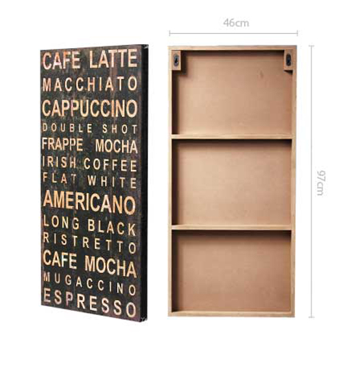 Vintage-Look Wooden Wall Art - Cafe - Hook of the Day