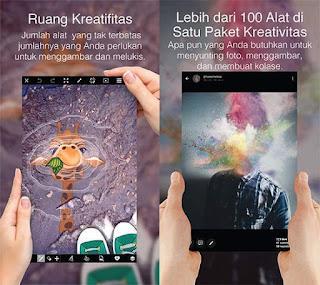 Aplikasi Edit Foto Melayang Android PicsArt Photo Studio