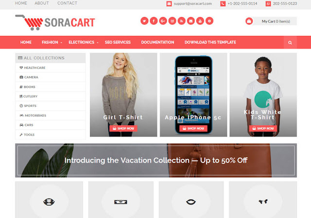 Download SoraCart Free Shopping Template