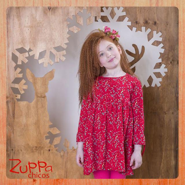 Hermoso vestido para nenas de la coleccion invierno 2017 de Zuppa chicos.