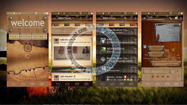 download BBM Mod Thema Wood Terbaru Versi 2.13.0.26 Apk