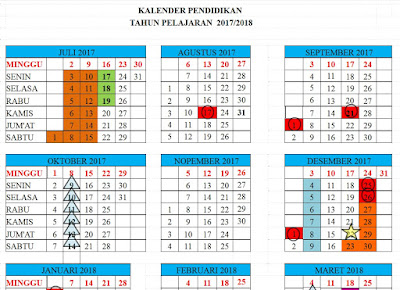 DOWNLOAD KALENDER PENDIDIKAN 2017/2018 TERBARU