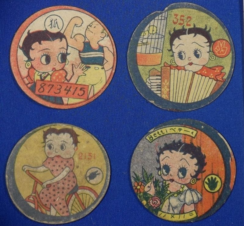 1930s popeye olive japanese new year greeting postcard vintage antique old card