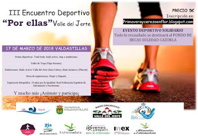 """III Encuentro Deportivo """"Por Ellas, Valle del Jerte"""""""