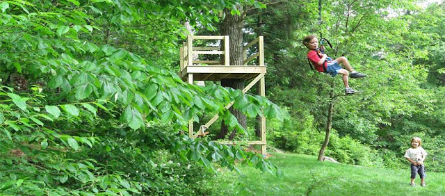 One Way To Build A Zip Line In Your Backyard