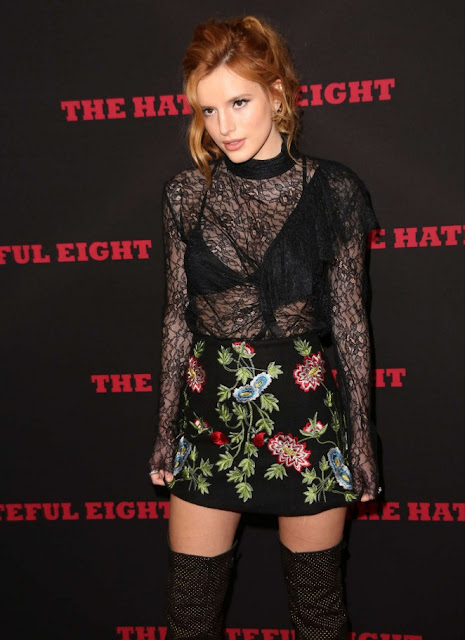 Bella Thorne – 'Hateful Eight' Premiere in Los Angeles.