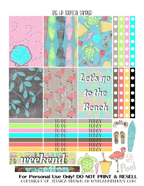 Free Printable Tropical Sampler for the Big Happy Planner from myplannerenvy.com