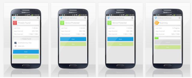 تطبيق مجاني للاندرويد للكشف عن الفيروسات وإزالتها Antivirus for Android 2.3.8 APK