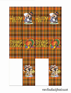 Thanksgiving Mini Candy Bar Wrapper Printable by Kims Kandy Kreations