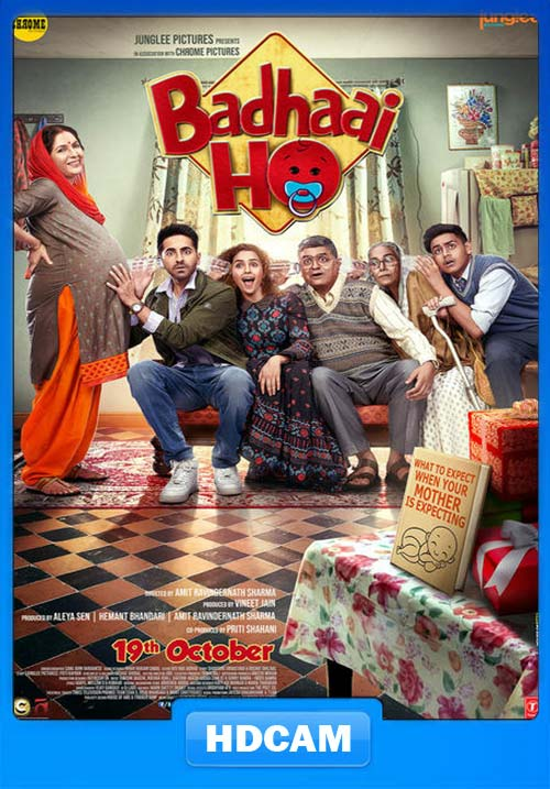 Badhaai Ho 2018 Hindi HD PRE x264 | 480p 300MB | 100MB HEVC