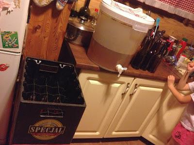 cydr, piwo, wino, wiadro, butelkowanie,kuchnia