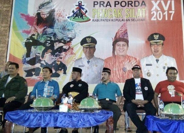 Ketua IPSI Kab.Kep. Selayar, Buka Gelanggang Pertandingan Silat, Pra Porda XVI