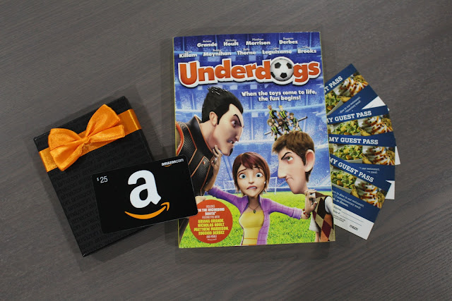 Ovation Brands Family Night Giveaway, includes Underdogs DVD & $25 Amazon Gift Card! Ends 9/19